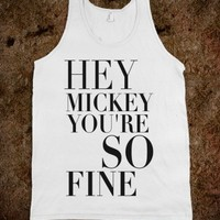 Hey Mickey-Unisex White Tank