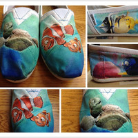 Custom Hand Painted Finding Nemo Shoes by RNCanvasCreations