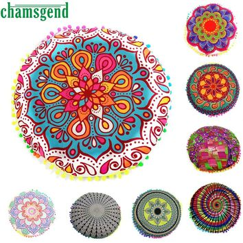 2017 Round Print Cover Case Blanket Table Cover-Up Indian Mandala Floor Pillows Round Cushion Yoga Mat Fitness Towel Beach Feb24