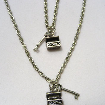 Adventurers necklace set  great for best friends ,couples, matching jewelry