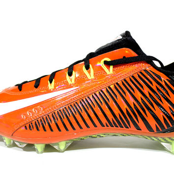 Nike Men's Vapor Carbon Elite 14 TD Orange Football Cleats 631425 811