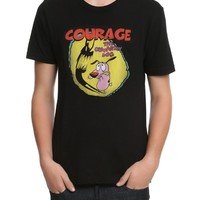 Cartoon Network COURAGE THE COWARDLY DOG SHADOW T-Shirt NWT Licensed & Official