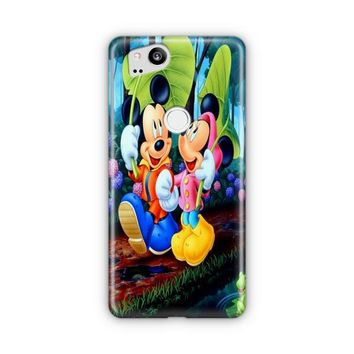 Romantic Mickey Mouse And Minnie Mouse Japanese Google Pixel 3 XL Case | Casefantasy
