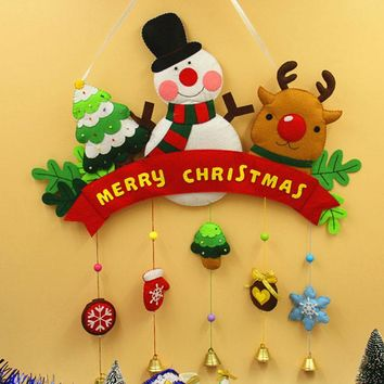 felt appliqué kit Holiday Christmas Big Size Door Decoration