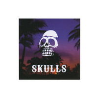 Skulls Sunset Sticker Purple Combo One Size For Men 23109076601