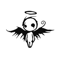 Gothic Angel vinyl decal sticker for Car/Truck Window tablet cute JDM halo wings