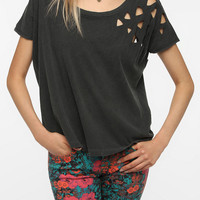 Truly Madly Deeply Laser-Cut Shoulder Tee