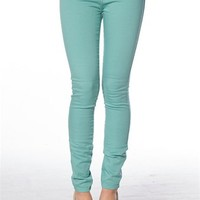 5-Pocket Skinny Jeans - Teal at Lucky 21 Lucky 21