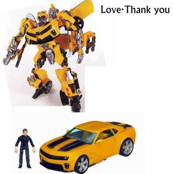 New Transformation Car Robot Action Figures Toys yellow Car Sam Robots model Toys Classic Brinquedos Children toys Gifts