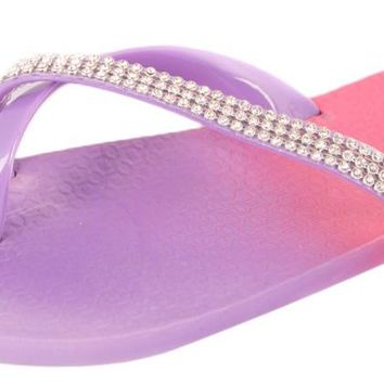 women's ombre embellished flip flops Case of 36