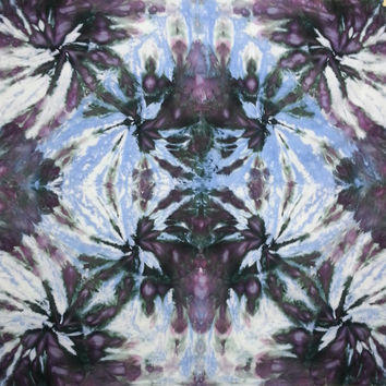 trippy tie dye tapestry wall hanging blue black purple