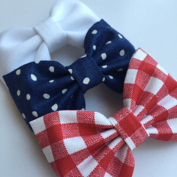Fourth of July hair bows 4th of July hair bows Seaside Sparrow hair bow set hair bow Hair bows for teens Hair bows for girls bows accessory.
