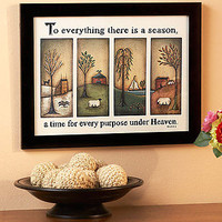 Primitive Hanging Wall Art To Everything There Is A Season Country Home Decor
