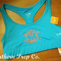 Monogrammed Ladies Athletic Bra