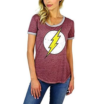 Womens Flash Distressed Logo  T shirt
