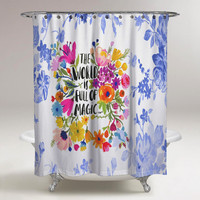 Shower Curtains The World is Full of Magic Custom Print On
