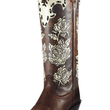 Ariat Women's Quincy Callie Sassy Brown/Cream Carnation Boot