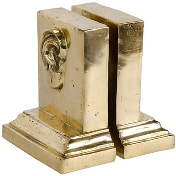 Cinnabar Bookend, Brass
