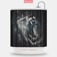 Lions Roaring Handmade Custom Shower Curtain Home & Living Bathroom 109