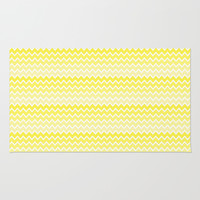 Yellow Ombre Chevron Rug by Decampstudios