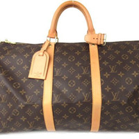 LOUIS VUITTON Monogram Keepall 50 Travel Hand Bag M41426 Auth F/S JAPAN