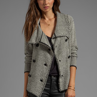 Tracy Reese Fall Specials Tweed Cardigan in Black/Ivory from REVOLVEclothing.com