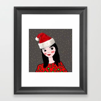 Christmas with you | Kids Painting | Only Love by Elisavet Framed Art Print by Azima
