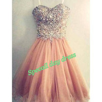 Short prom dress , bridesmaid dresses,  baby doll dress, sweetheart party dress, cocktail dress