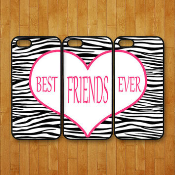 iphone 5C case,3pcs,Best Friends forever,zebra pattern,iphone 5 case,iphone 5s case,iphone 4 case,iphone 4S case,ipod 4 case,ipod 5 case