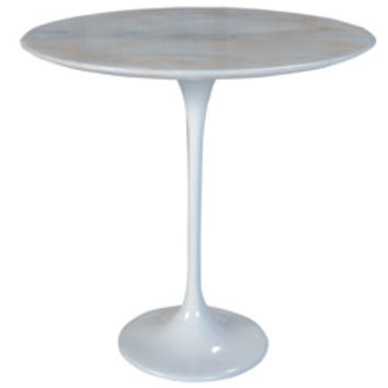 Nuevo Jacob White Marble Side Table