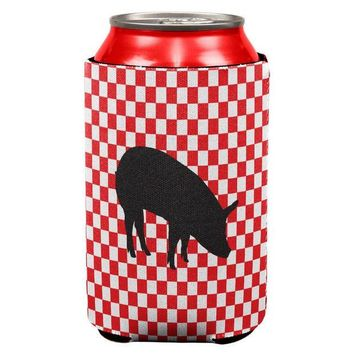 CREYCY8 Country Kitchen Checkerboard Pig Can Cooler
