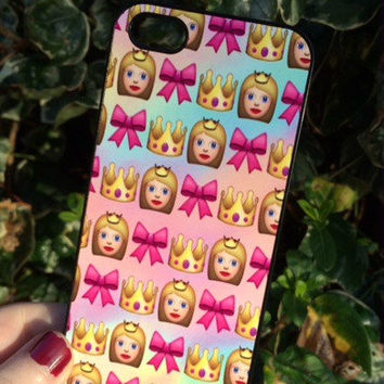 Iphone 6 Phone Case Emoji Princess Crown Print Hipster Phone Cover
