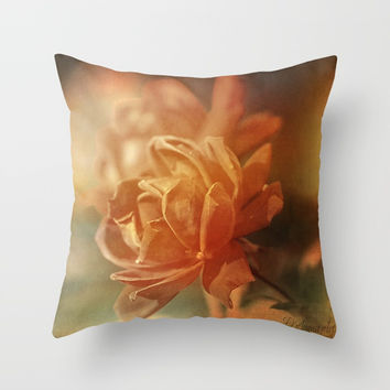 Sometimes We Touch Throw Pillow by Theresa Campbell D'August Art