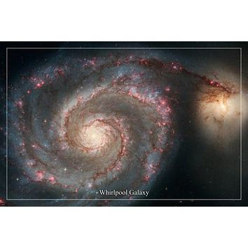 WHIRLPOOL GALAXY Hubble space telescope image poster 24X36 POSTER majestic!