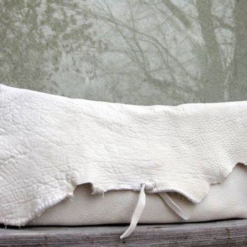 Creamy White Moose Leather Clutch Purse by Stacy by stacyleigh