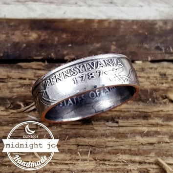 Pennsylvania State Quarter Coin Ring