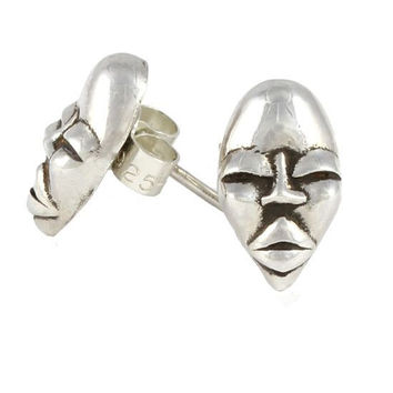 Lee Renée Voodoo Silver Erzulie Stud Earrings