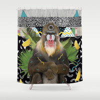 MANDRIL Shower Curtain by Kris Tate
