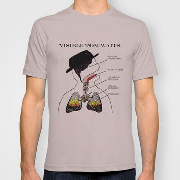 VISIBLE TOM WAITS T-shirt by Jim Lockey