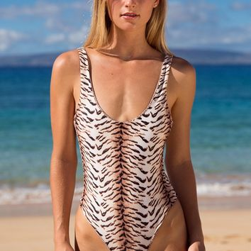 ACACIA Swimwear 2018 Palm Springs One Piece in Tiger