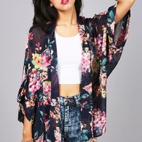 Candy Florals Chiffon Cardigan | Cute Cardigans at Pink Ice