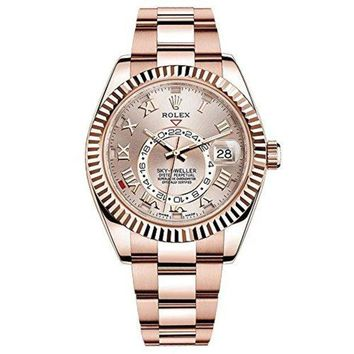 Rolex Sky-Dweller 42mm Everose Gold Watch