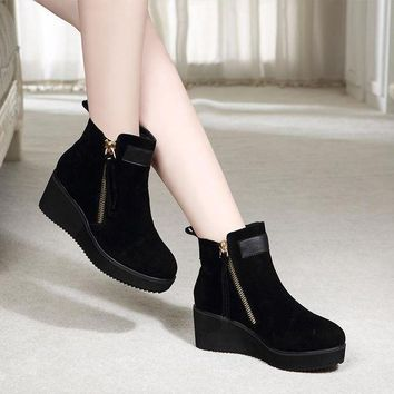 ca PEAPTM4 Hot Deal On Sale Thick Crust Platform Shoes Winter Flat England Style Dr. Martens Shoes Boots [11156051655]