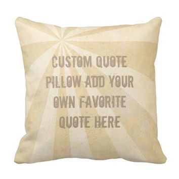 custom quote pillow add your own shabby chic style