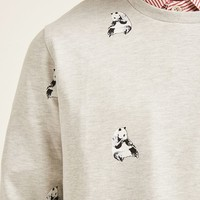 Panda Graphic Sweatshirt