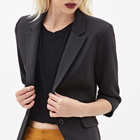 FOREVER 21 Structured Scuba Knit Blazer Black Large