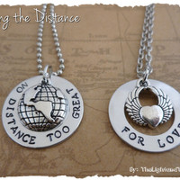 Hand Stamped LDR Set with two charms