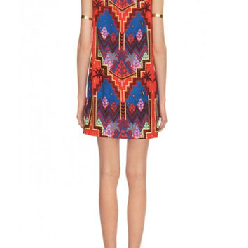 Mara Hoffman Shift Dress in Pyramid Night Navy