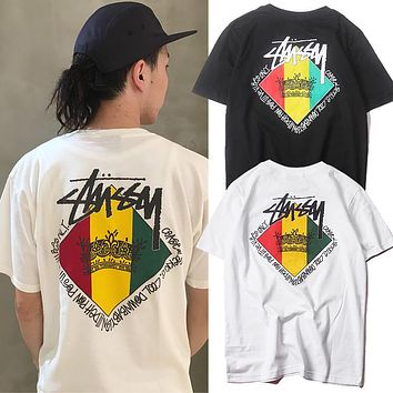 Stussy Fashion Casual Print Shirt Top Tee