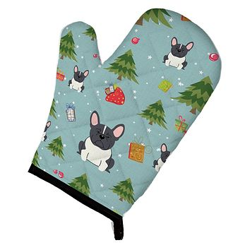 Christmas French Bulldog Black White Oven Mitt BB4672OVMT